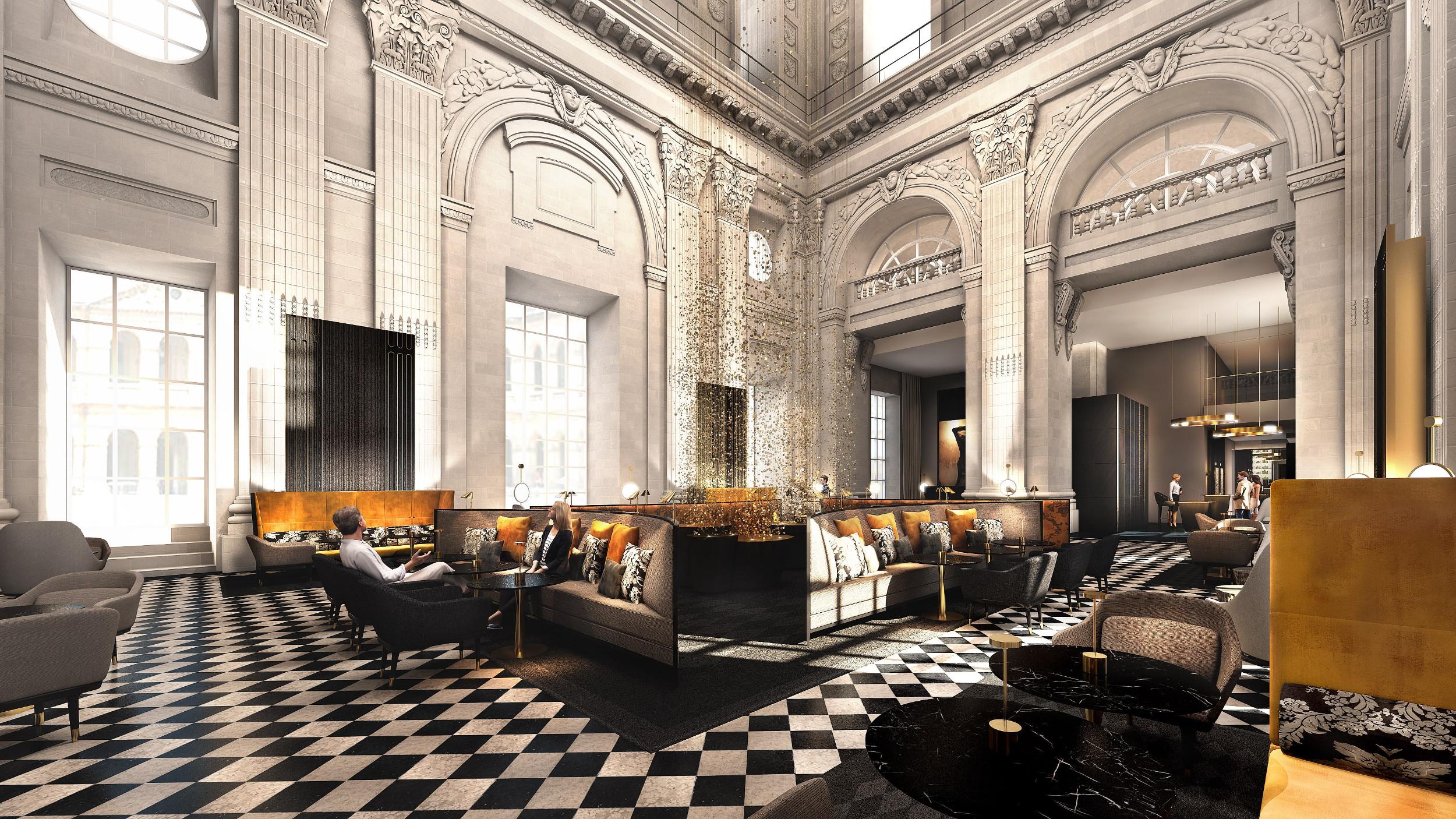 InterContinental Lyon - Hotel Dieu - Bar Le Dome - lounge - Jean-Philippe Nuel - 3D Interior Design
